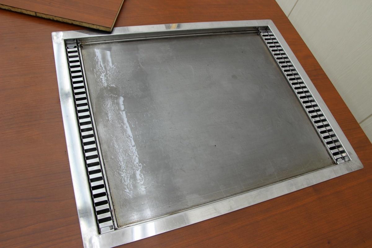 美品!店舗用 鉄板 カウンターテーブル お好み鉄板焼き焼肉焼きそばうどんもんじゃホルモン焼き 都市ガス 1000×800-2_画像4