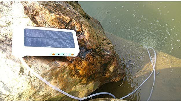 COM★MI-SLPUMP◆釣った魚を 新鮮にキープ !!!! ソーラー ポンプ 2200mAh どこでも釣りポンプ iPhon_画像6