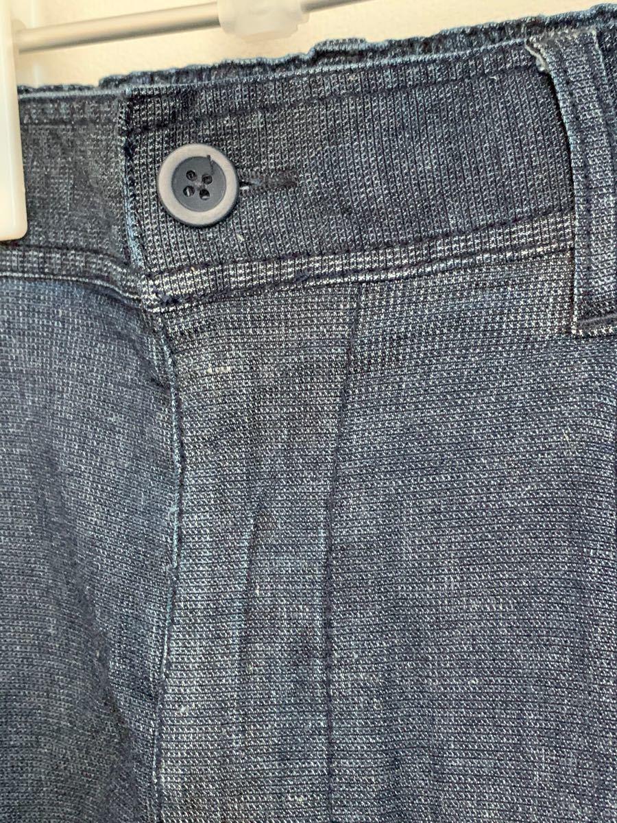 メンズ リネンイージーパンツ デニムパンツ Mサイズ ノーティードック