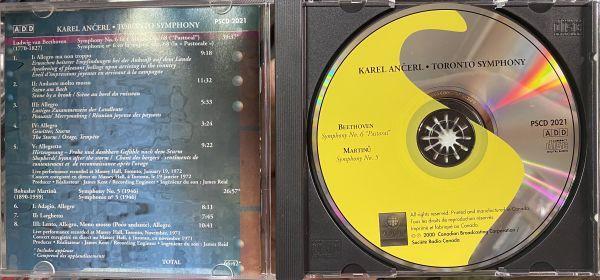 ◆【CBC Records】カレル・アンチェル &トロント交響楽団 ベートーヴェン:交響曲第6番「田園」 マルティヌー:交響曲第5番 ライブ 輸入盤◆_画像3