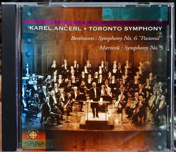 ◆【CBC Records】カレル・アンチェル &トロント交響楽団 ベートーヴェン:交響曲第6番「田園」 マルティヌー:交響曲第5番 ライブ 輸入盤◆_画像1