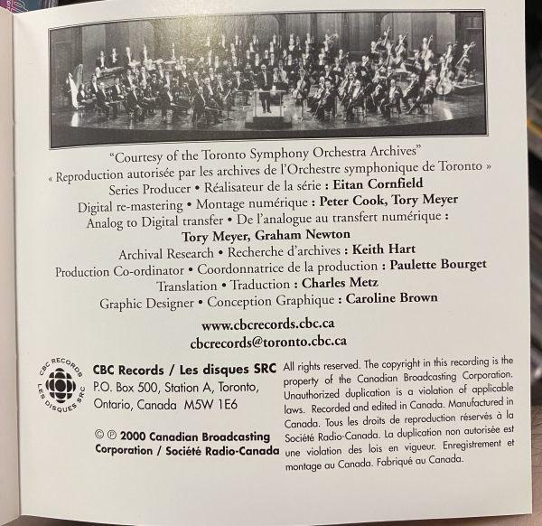 ◆【CBC Records】カレル・アンチェル &トロント交響楽団 ベートーヴェン:交響曲第6番「田園」 マルティヌー:交響曲第5番 ライブ 輸入盤◆_画像5
