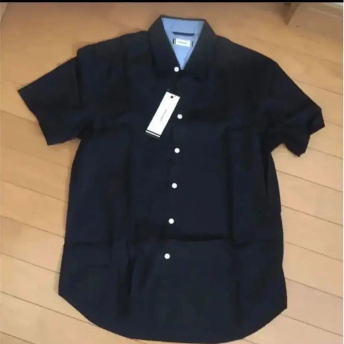 半袖シャツ 半袖 メンズ 新品 未使用 M シャツ 黒 ギフト ラッピング タグ