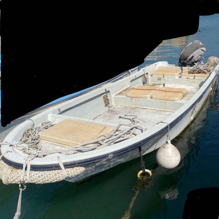 「即決価格!最終値下げ!YAMAHA W17 搭載艇 20馬力 船外機」の画像1