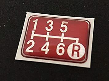Tuningfan シフトパターン エンブレム レッド 右下R 6速MT車用 赤 SPE-R602_画像3