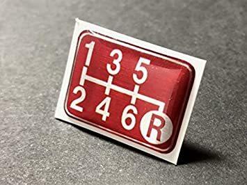 Tuningfan シフトパターン エンブレム レッド 右下R 6速MT車用 赤 SPE-R602_画像4