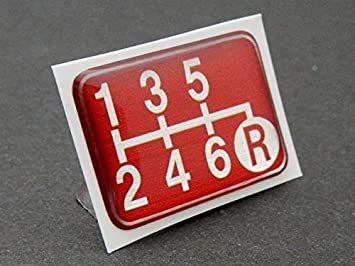 Tuningfan シフトパターン エンブレム レッド 右下R 6速MT車用 赤 SPE-R602_画像2