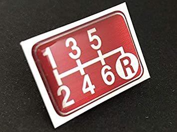 Tuningfan シフトパターン エンブレム レッド 右下R 6速MT車用 赤 SPE-R602_画像1