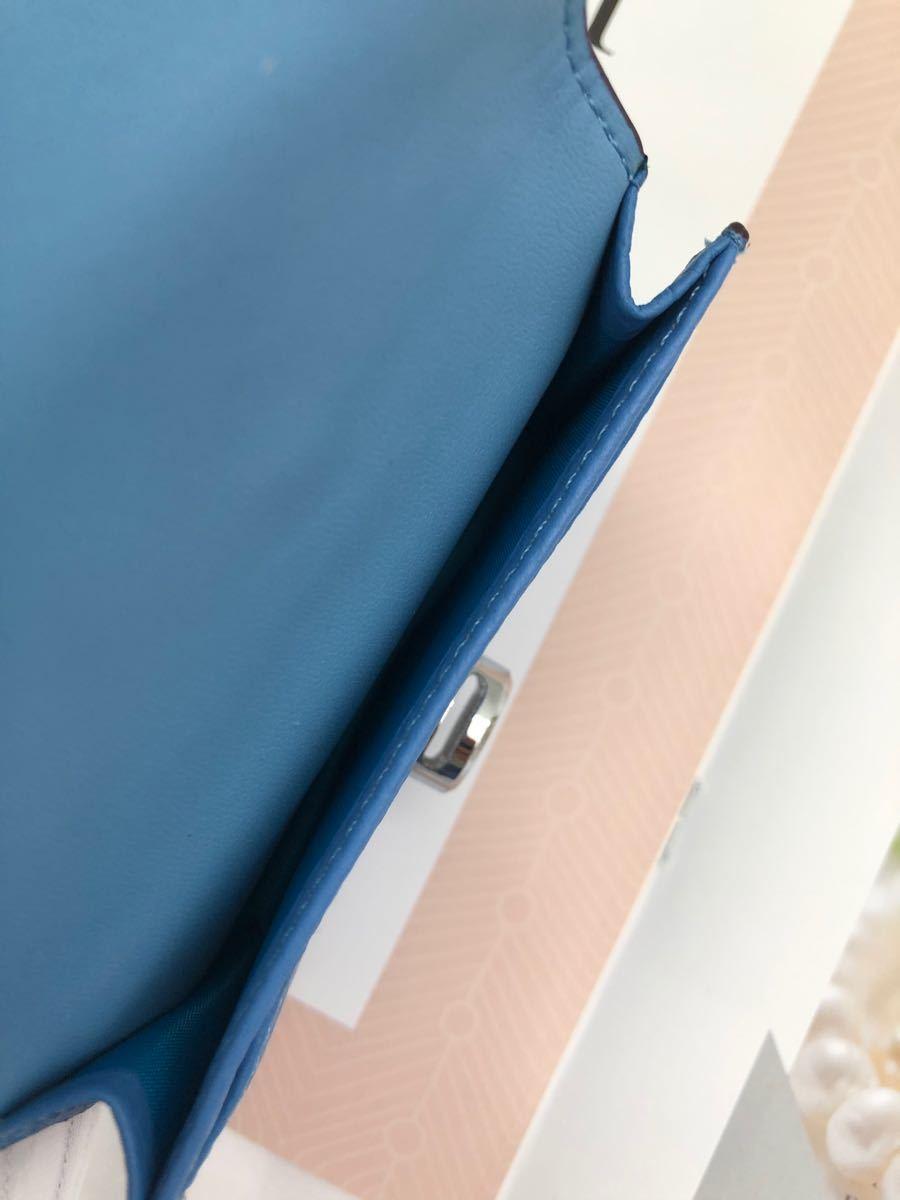 カードケース 名刺入れ レディース 本革 大容量 ブルー
