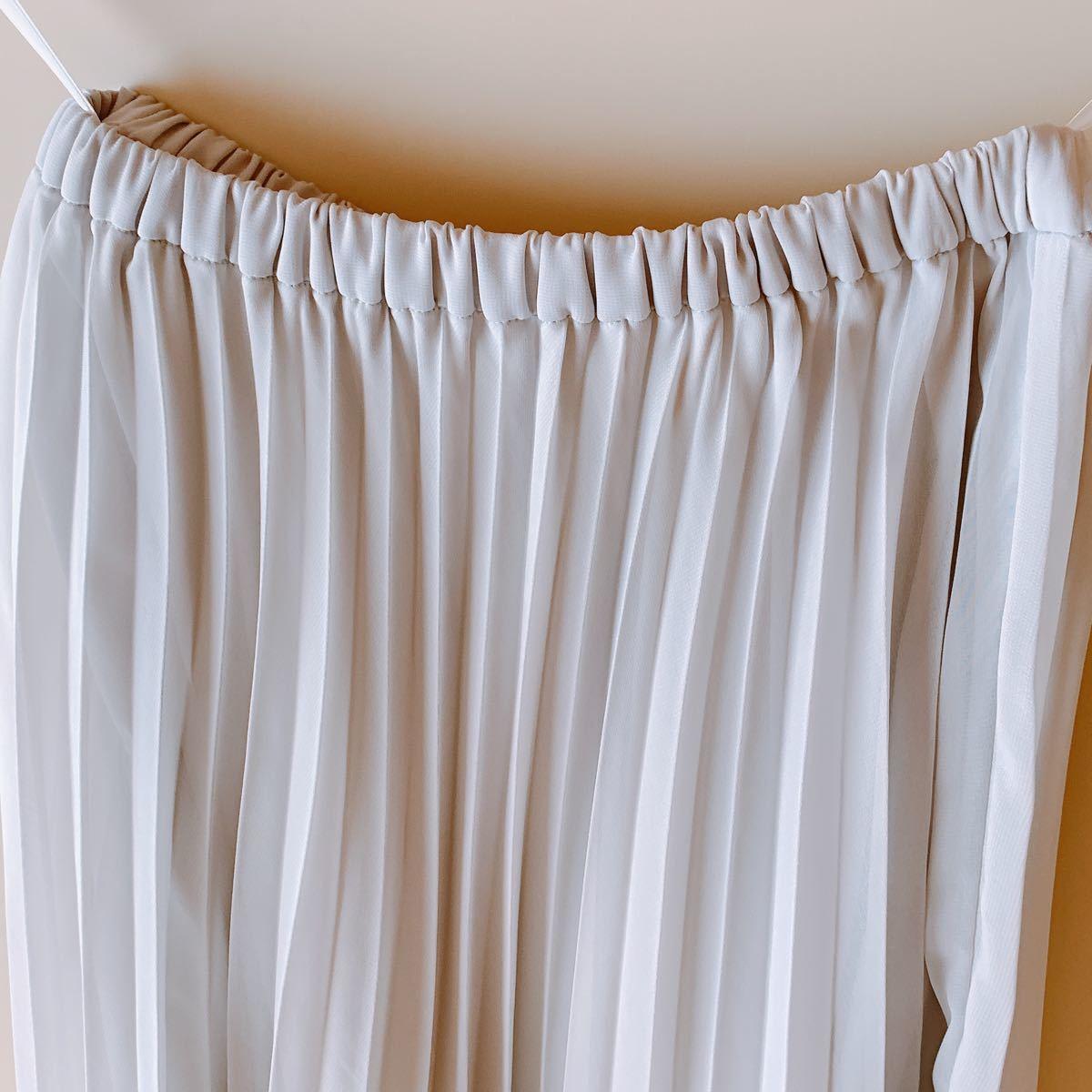 プリーツスカート ロングスカート チュールスカート マキシ丈