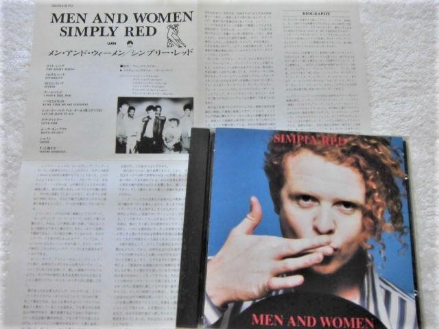 初回国内盤!32XD-670 / 1987 / Simply Red / Men And Women / Sly & The Family Stone, Lamont Dozier, Cole Porter / GOTA, 屋敷 豪太_画像1