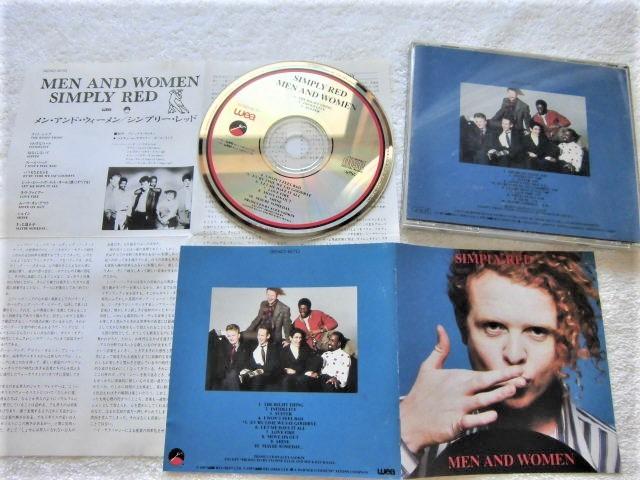 初回国内盤!32XD-670 / 1987 / Simply Red / Men And Women / Sly & The Family Stone, Lamont Dozier, Cole Porter / GOTA, 屋敷 豪太_画像2