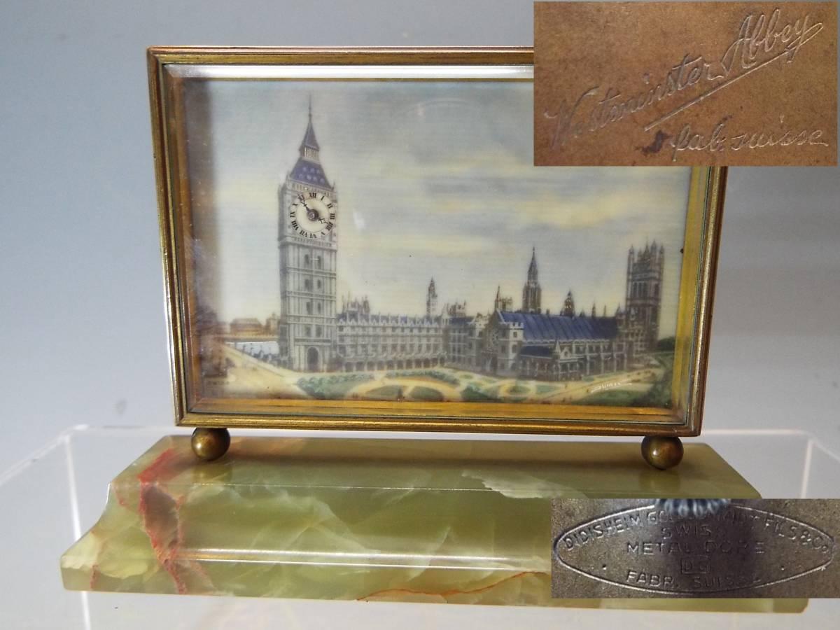 4) Big Ben 時計台 Suisse Westminster 置時計 イギリス