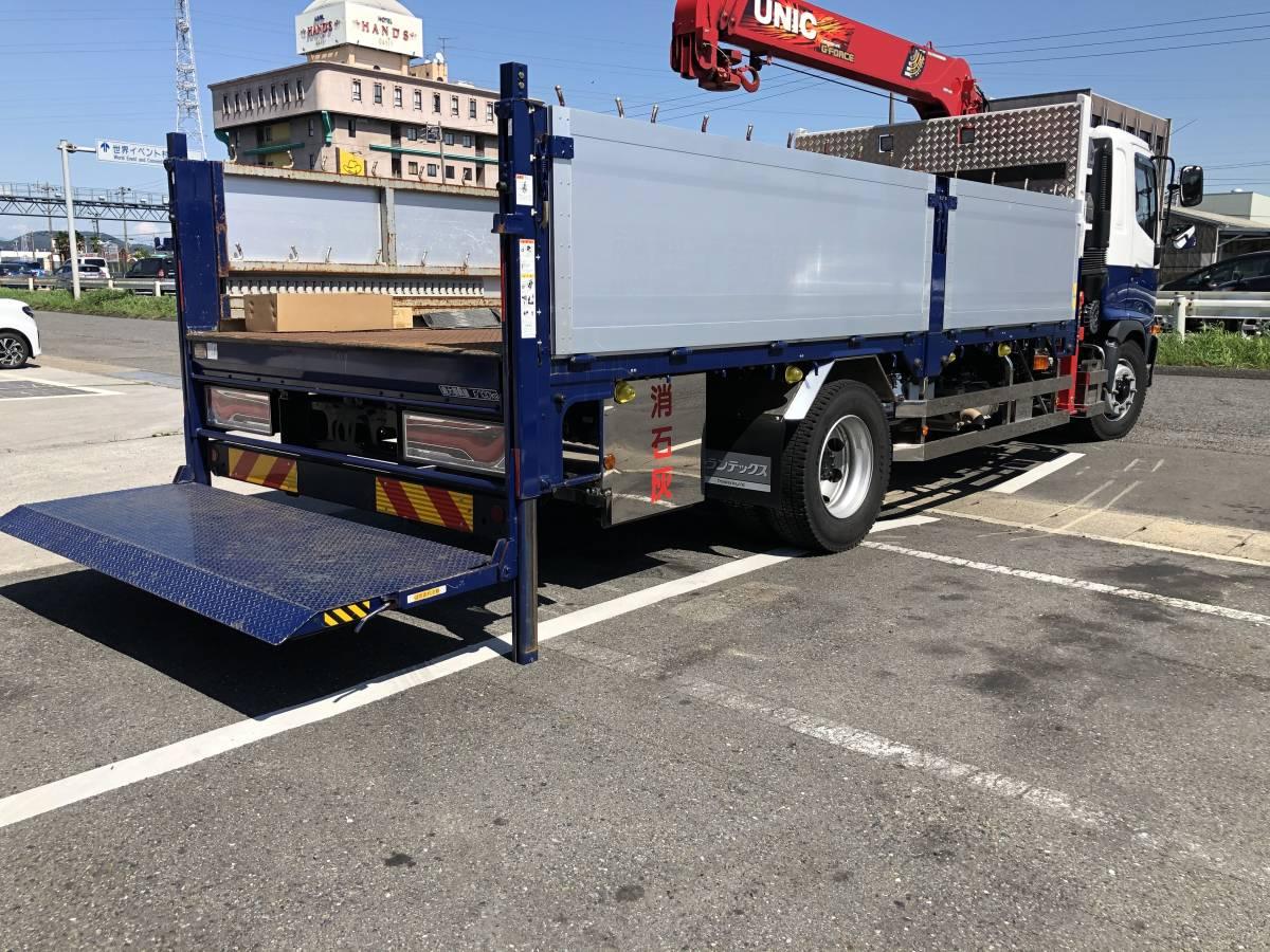 トラック 荷台 平ボディー 左右2方開アルミあおり 新明和工業パワーゲート付き_画像5
