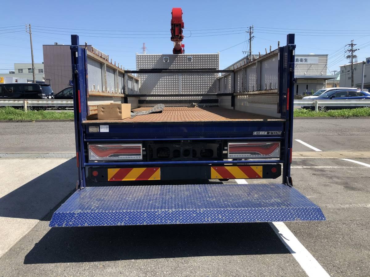 トラック 荷台 平ボディー 左右2方開アルミあおり 新明和工業パワーゲート付き_画像2