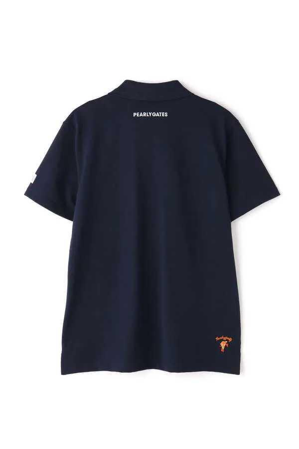 新品正規品 パーリーゲイツ サイズ1 2020最新作 サラサラ素材 ネイビー 鹿の子 ポロシャツ 送料無料_画像3