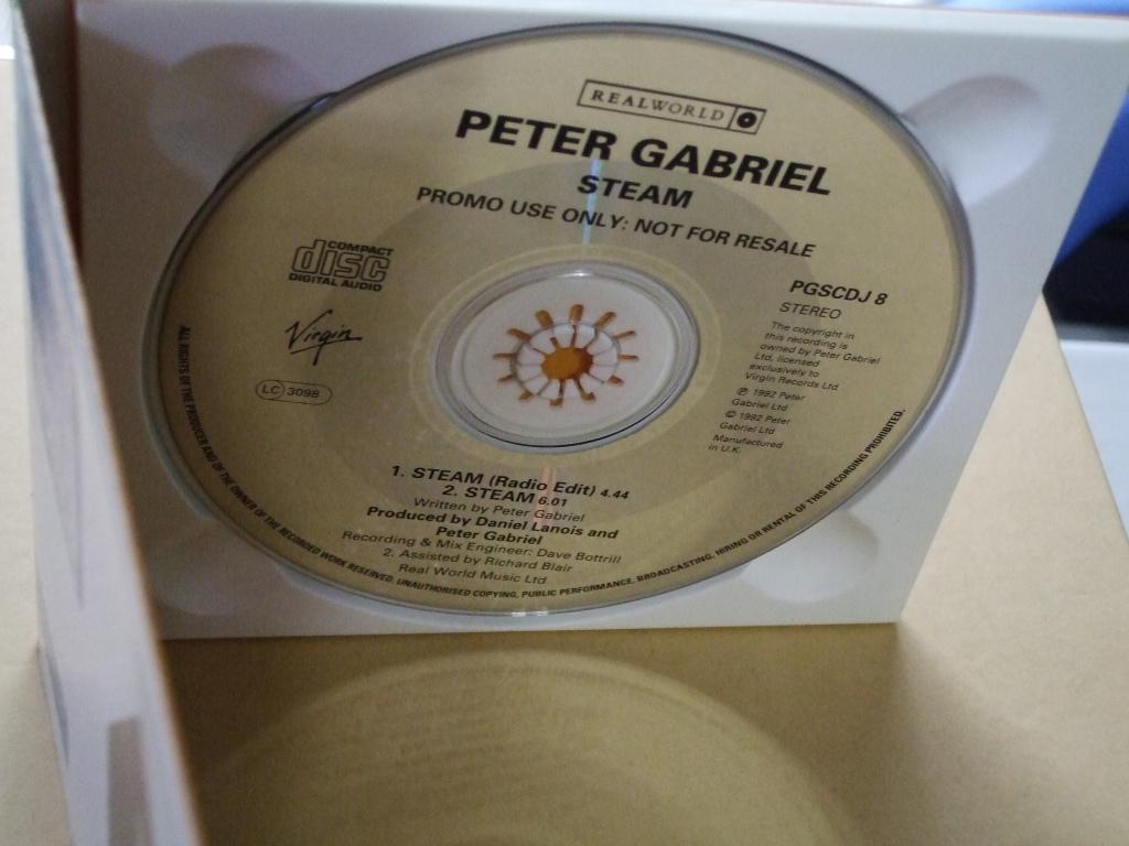 ★Peter Gabriel / Steam ★UK盤 シングルCD / ピーター・ガブリエル / スチーム_画像2