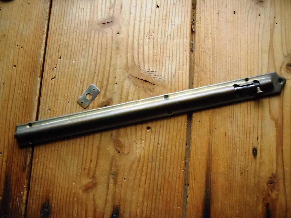 *即決*古い真鍮鋳物の丸落とし(約303mm)*古道具*ドア金物*アンティーク*デッドストック*丸落*洋館*_画像1