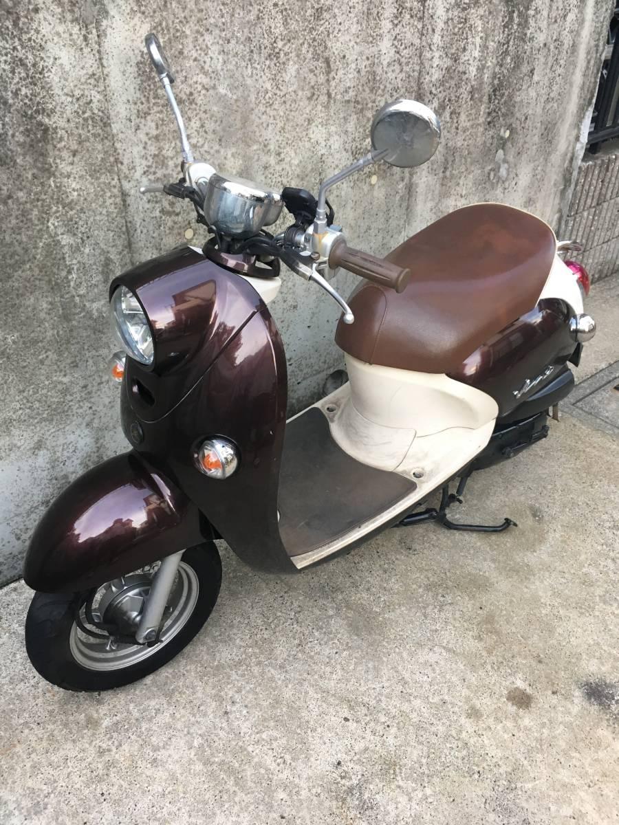 「YAMAHA VINO SA37J 茶 F1エンジン フュールインジェクション 4サイクル 東京 神奈川 ヤマハ ビーノ スクーター 50cc」の画像3