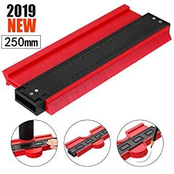 250mm レッド 250mm 型取りゲージ コンターゲージ 250mm 測定ゲージ 測定工具プラスチック製 目盛付き(レッド)_画像1