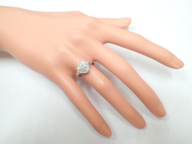 美品 Pt900 ダイヤ0.239ct(F-VS2‐FAIR) 他ダイヤ計0.38ct リング 指輪_画像8
