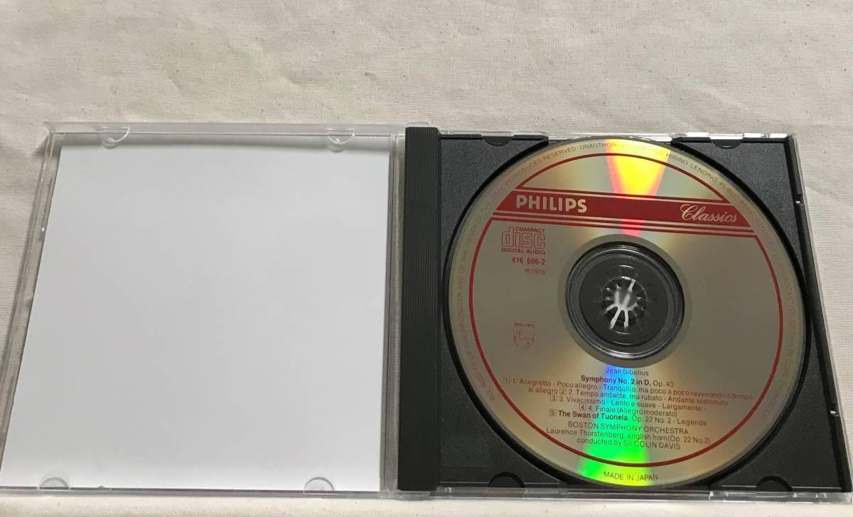 コリン・デイヴィス / シベリウス:交響曲 第2番、トゥオネラの白鳥 / ボストン交響楽団●PHILIPS 国内_画像4