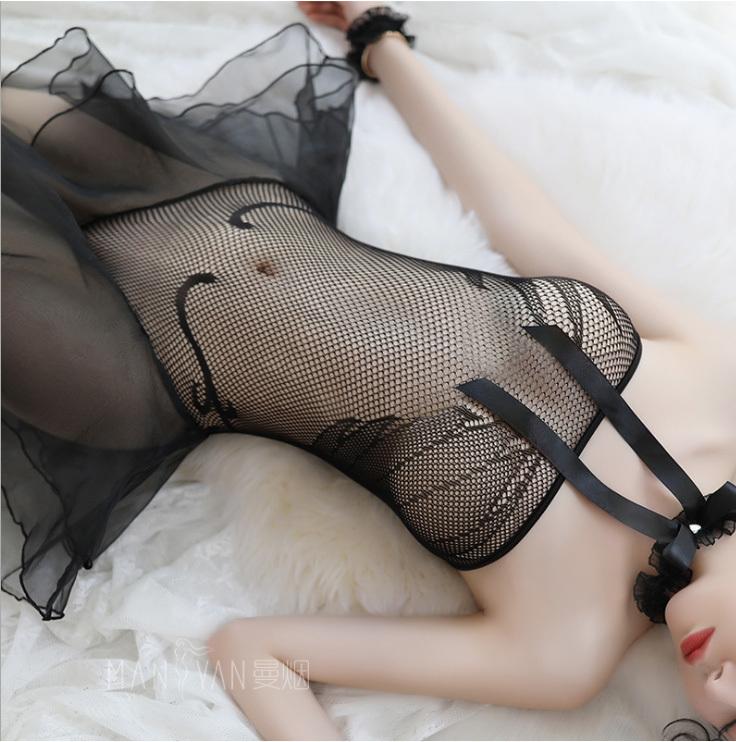 超セクシー 可愛いランジェリー シースルー ベビードール 透け透けワンピース コスプレ衣装 ナイトウエア_画像5