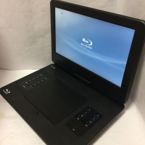 13.3インチ ポータブルブルーレイディスクプレーヤー ブラック YAMAZEN Qriom TMB-L133(B) 動作品 状態良 リモコン付_画像2