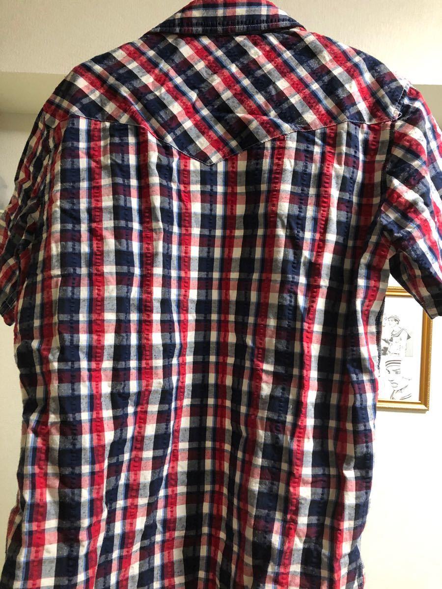 半袖Tシャツ メンズ チェック柄 LLサイズ