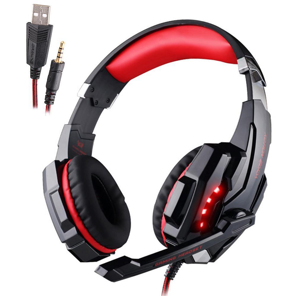 Kotion 各ゲーミングヘッドセット重低音ステレオイヤホン led ライトマイクマイク pc の PS4 xbox_画像5