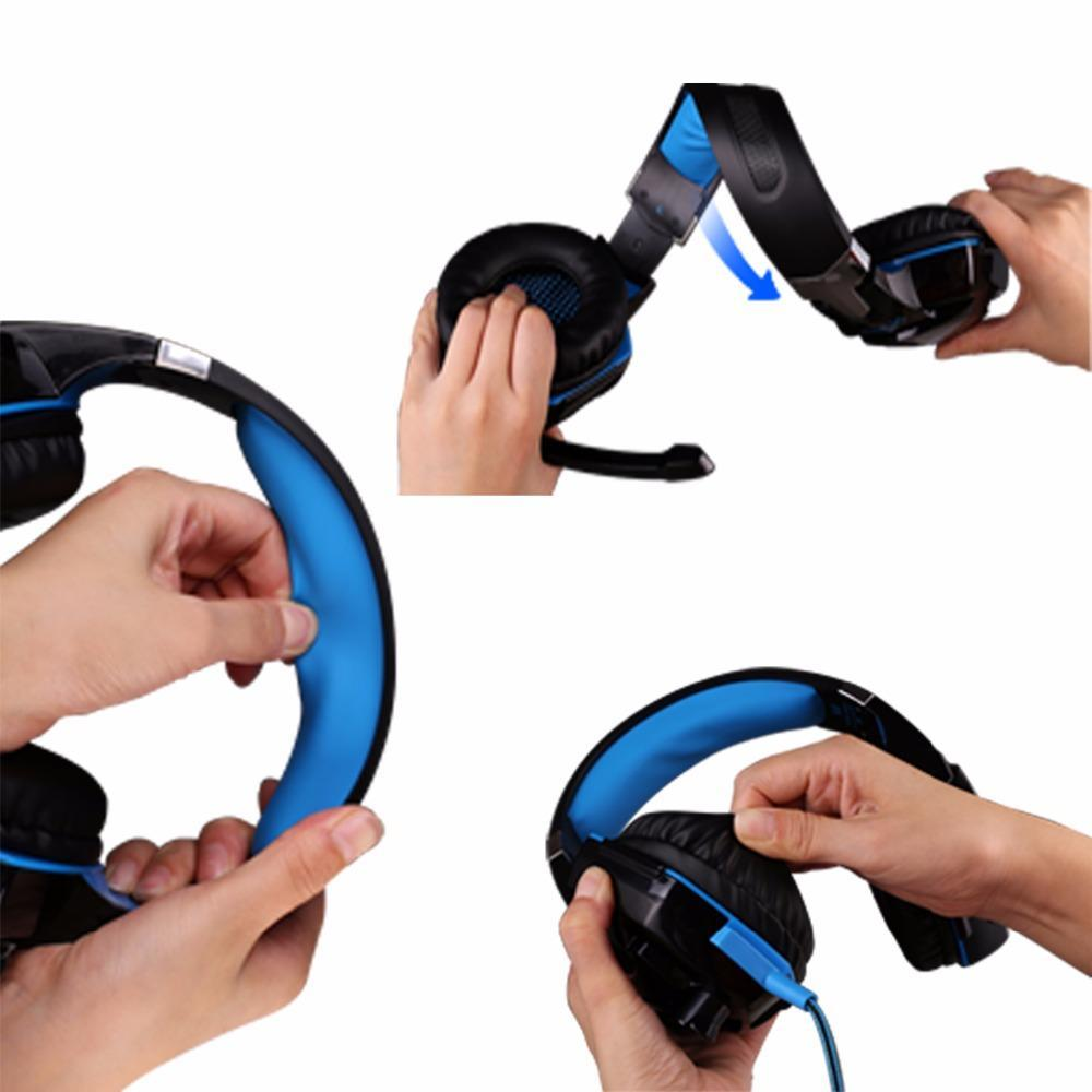 Kotion 各ゲーミングヘッドセット重低音ステレオイヤホン led ライトマイクマイク pc の PS4 xbox_画像3