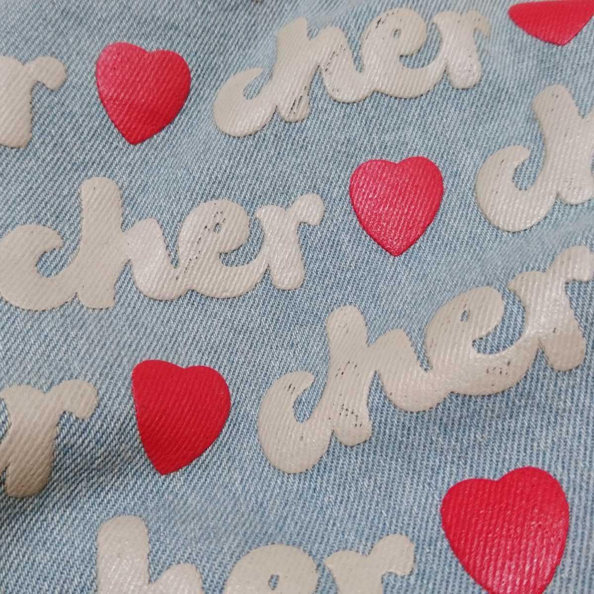 ブランド Cher シェル トートバッグ 雑誌付録 付録 サブバック デニム レア 希少 お弁当 習い事 お出かけ 旅行 カバン 鞄 _画像3