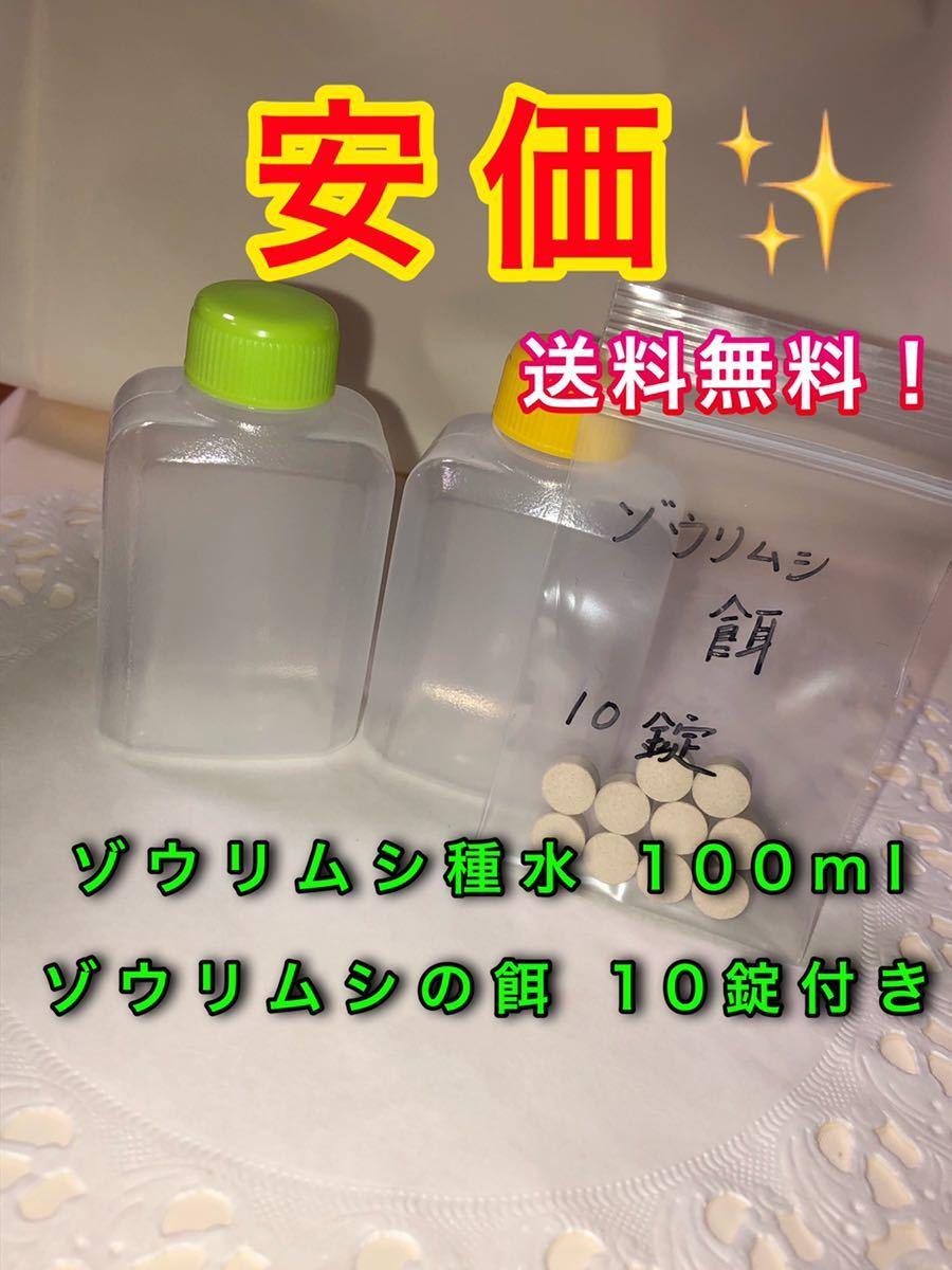 【安価】ゾウリムシ種水 100ml (ゾウリムシ餌10錠付き)【送料無料】めだか インフゾリア ゾウリムシ_画像1