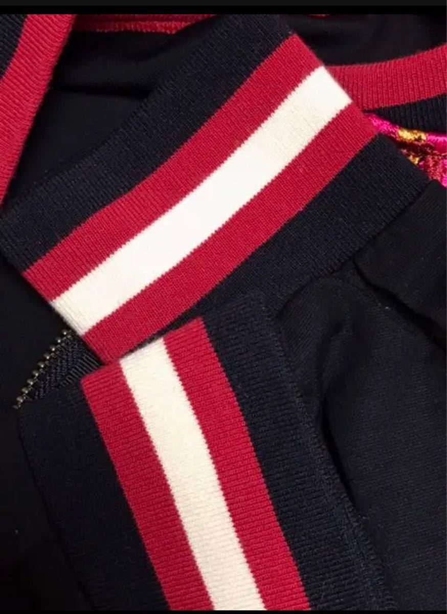 シースルー ブルゾン ジャケット フラワー柄 刺繍アウター トップス