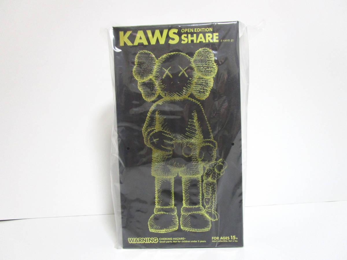 新品未開封 KAWS SHARE BLACK 黒 カウズ MEDICOM TOY メディコム・トイ 国内正規品_画像2
