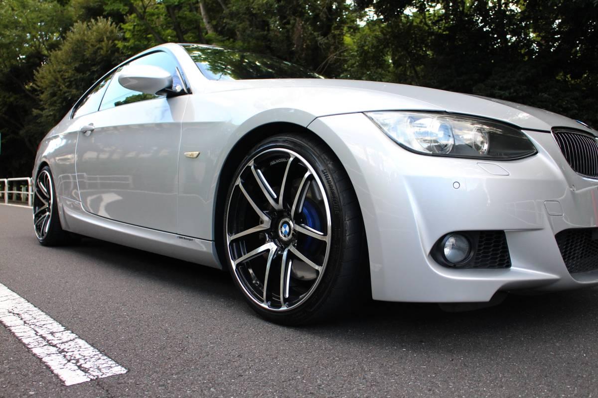 【超美車 カスタムモデル】BMW335iクーペ Mスポーツ/306馬力/DOHCツインターボ/後期型 新7AT/AVSモデル19AW【検令和4/9長期】黒革/東京