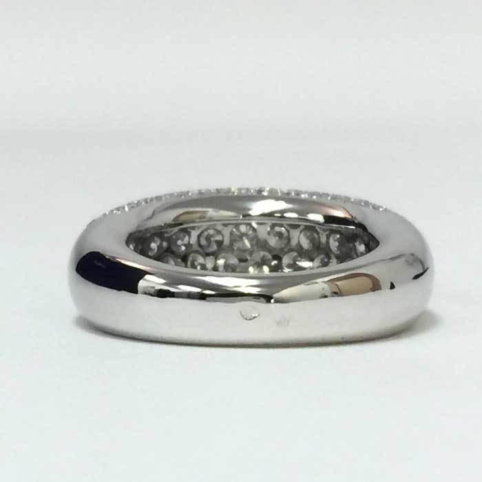 【新品同様】【美品】ショーメ CHAUMET アノーリング パヴェダイヤ MM 指輪 K18WG 15号相当 新品磨き済み シルバー_画像5