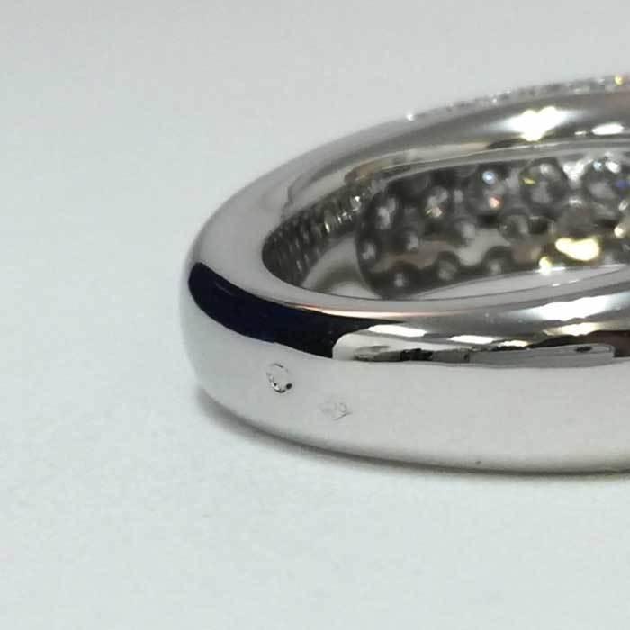 【新品同様】【美品】ショーメ CHAUMET アノーリング パヴェダイヤ MM 指輪 K18WG 15号相当 新品磨き済み シルバー_画像7