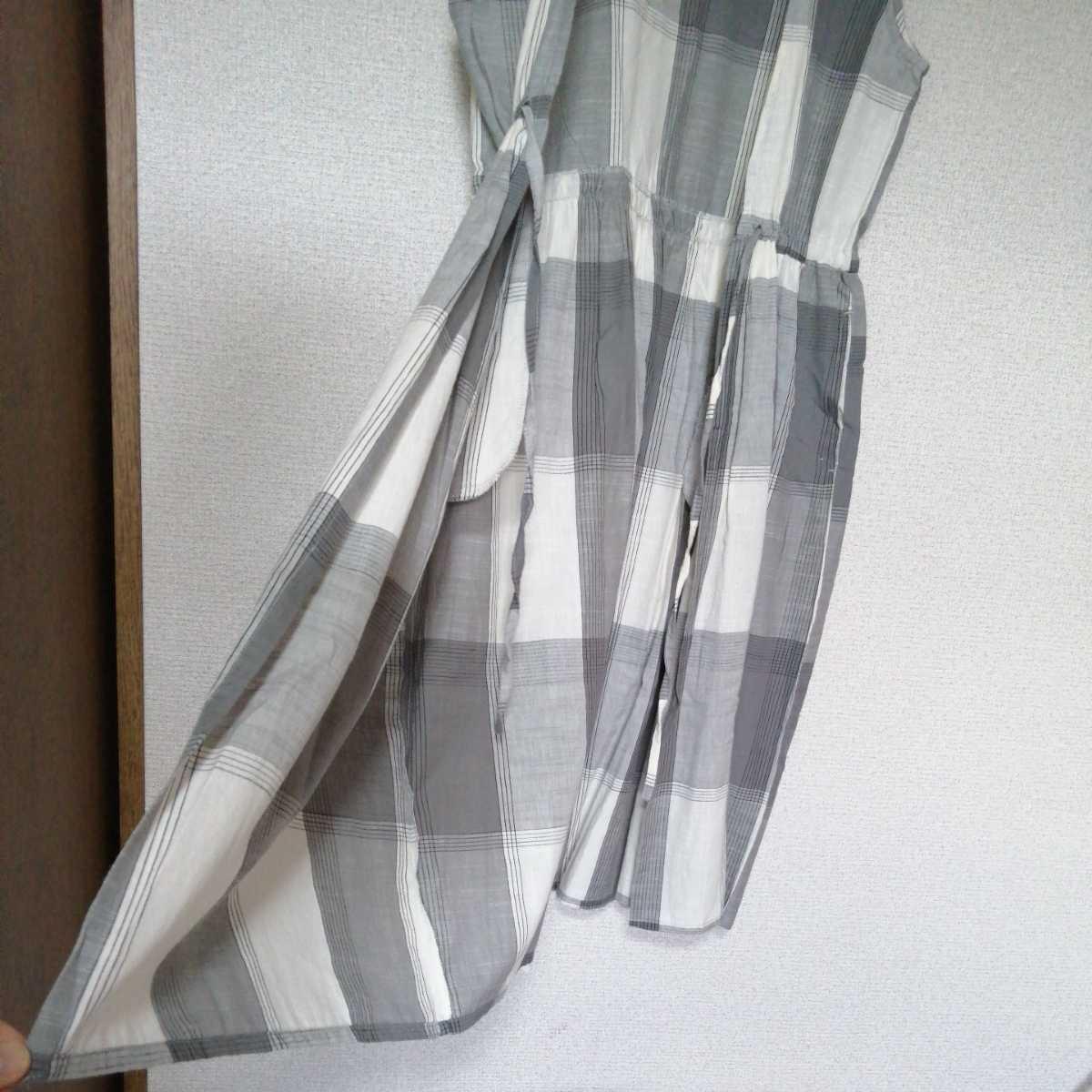 ノースリーブロングワンピース ロングカットソー M~Lサイズ 着丈106cm 綿100%