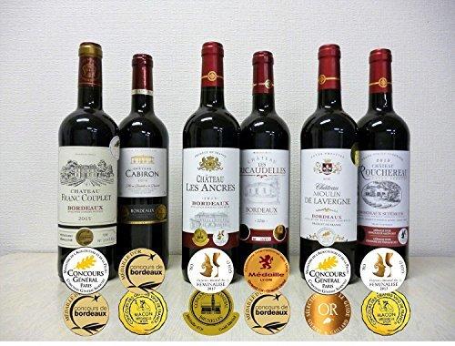 K7414-●□K IUALLダブル金賞受賞 赤ワイン6本セットTR85-Oフランス ボルドー産 ソムリエ厳選 750ml&6_画像4