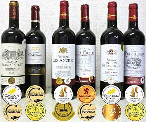 K7414-●□K IUALLダブル金賞受賞 赤ワイン6本セットTR85-Oフランス ボルドー産 ソムリエ厳選 750ml&6_画像1