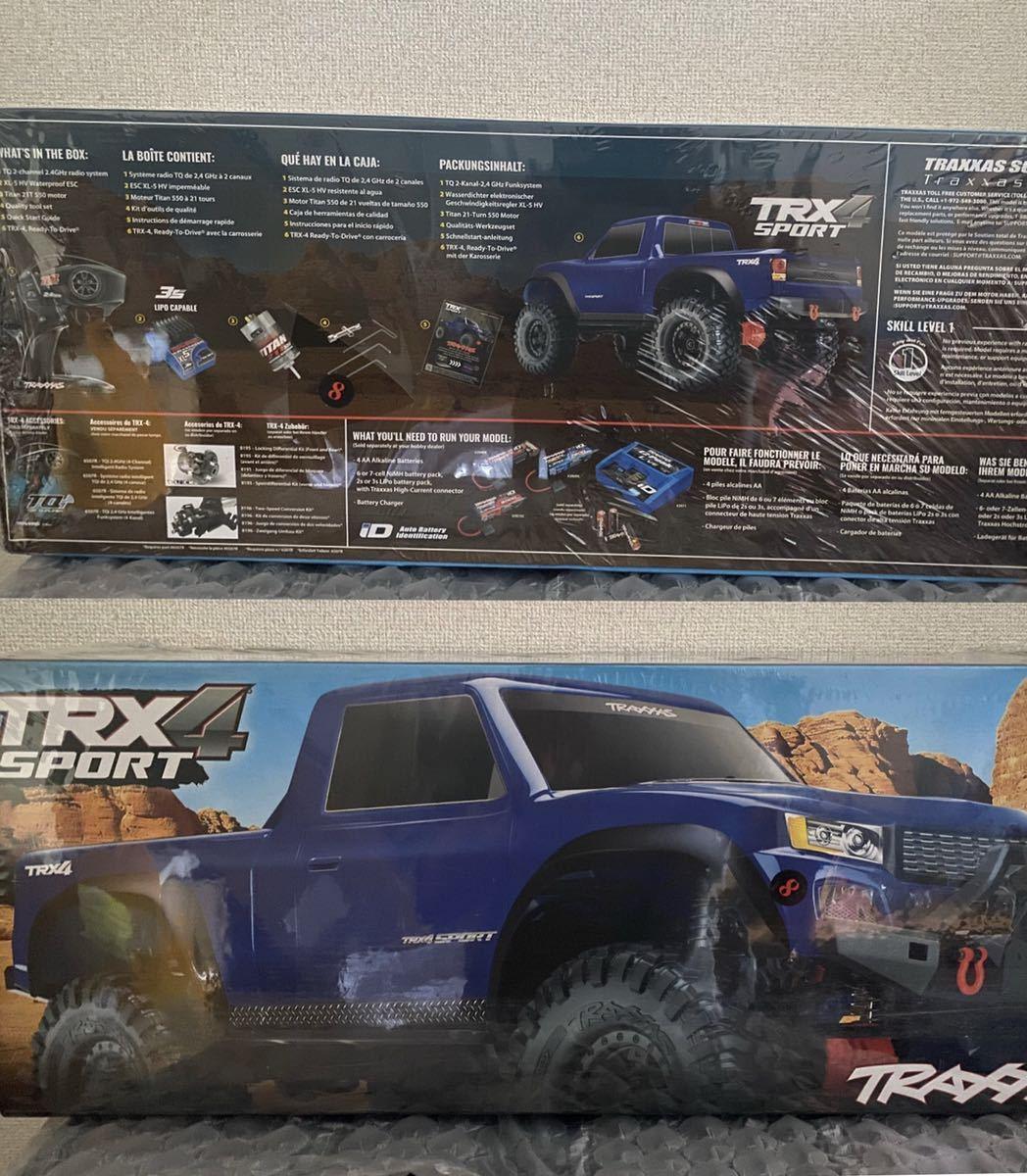 新品 トラクサス 1/10 Traxxas TRX-4 sport スポーツ クローラー ピックアップトラック 4WD 2.4G RTR ブルー アキシャル Axial SCX10対抗機