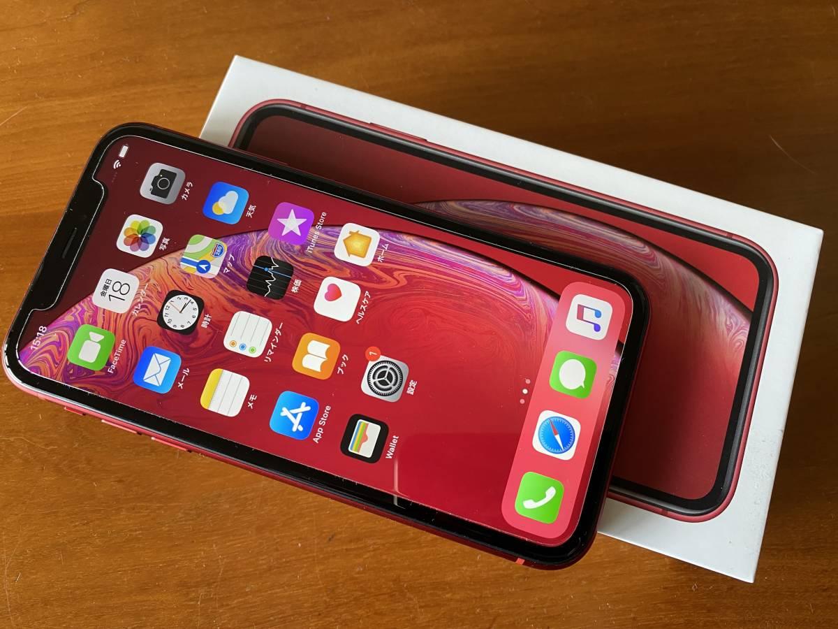【超美品】docomoドコモ apple iPhone XR 64GB MT062J/A PRODUCT(RED)レッド SIMロック解除済み ネットワーク利用制限:○ バッテリー99%