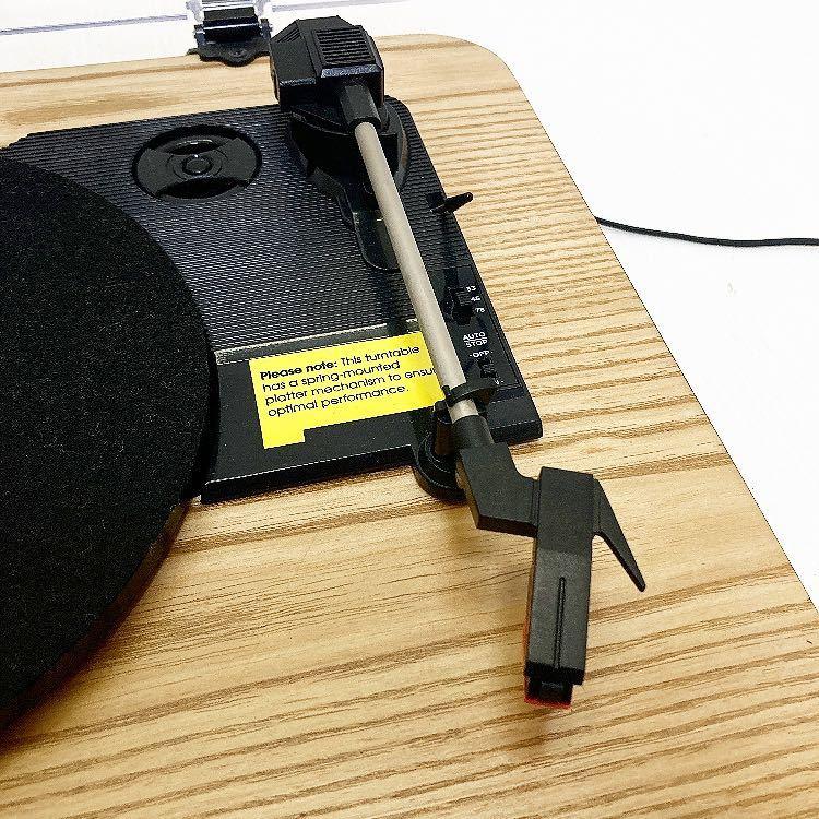 動作品 ION MAX LP アイオン オーディオ オールインワン USB ターンテーブル レコードプレーヤー スピーカー内蔵 alp梅912_画像5