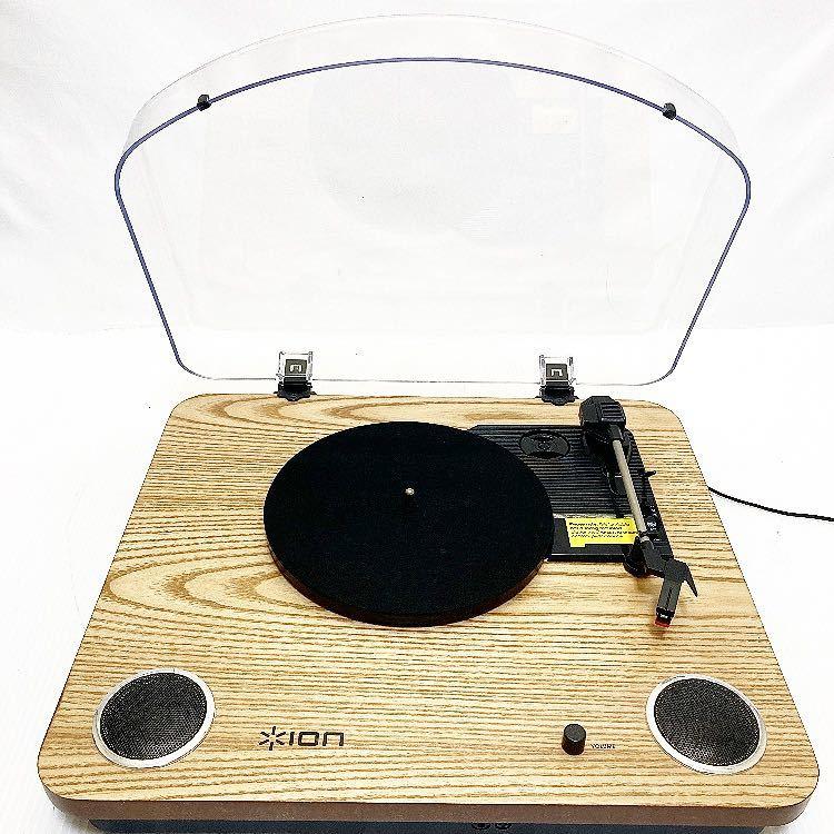 動作品 ION MAX LP アイオン オーディオ オールインワン USB ターンテーブル レコードプレーヤー スピーカー内蔵 alp梅912_画像2