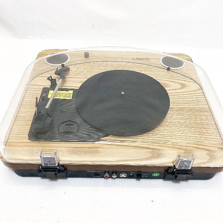 動作品 ION MAX LP アイオン オーディオ オールインワン USB ターンテーブル レコードプレーヤー スピーカー内蔵 alp梅912_画像7