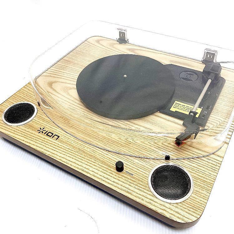 動作品 ION MAX LP アイオン オーディオ オールインワン USB ターンテーブル レコードプレーヤー スピーカー内蔵 alp梅912_画像1