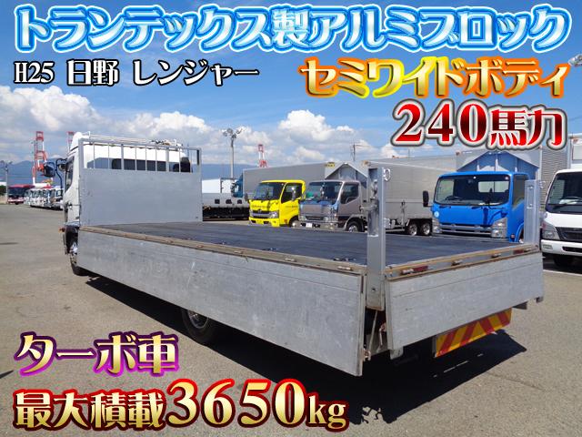 「H25 日野 レンジャー トランテックス製アルミブロック 最大積載3650kg セミワイドボディ 240馬力 ターボ車 #K6897」の画像2