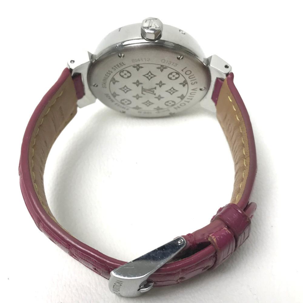 LOUIS VUITTON ルイヴィトン Q1313 レディース 腕時計 タンブール ホログラム クォーツ 腕時計 SS レディース_画像2