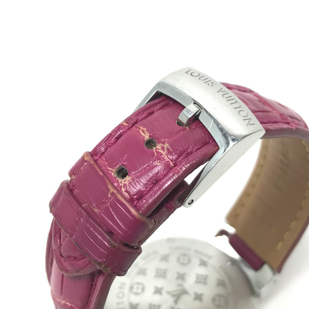 LOUIS VUITTON ルイヴィトン Q1313 レディース 腕時計 タンブール ホログラム クォーツ 腕時計 SS レディース_画像4